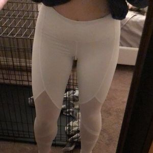 White Victoria's Secret leggings